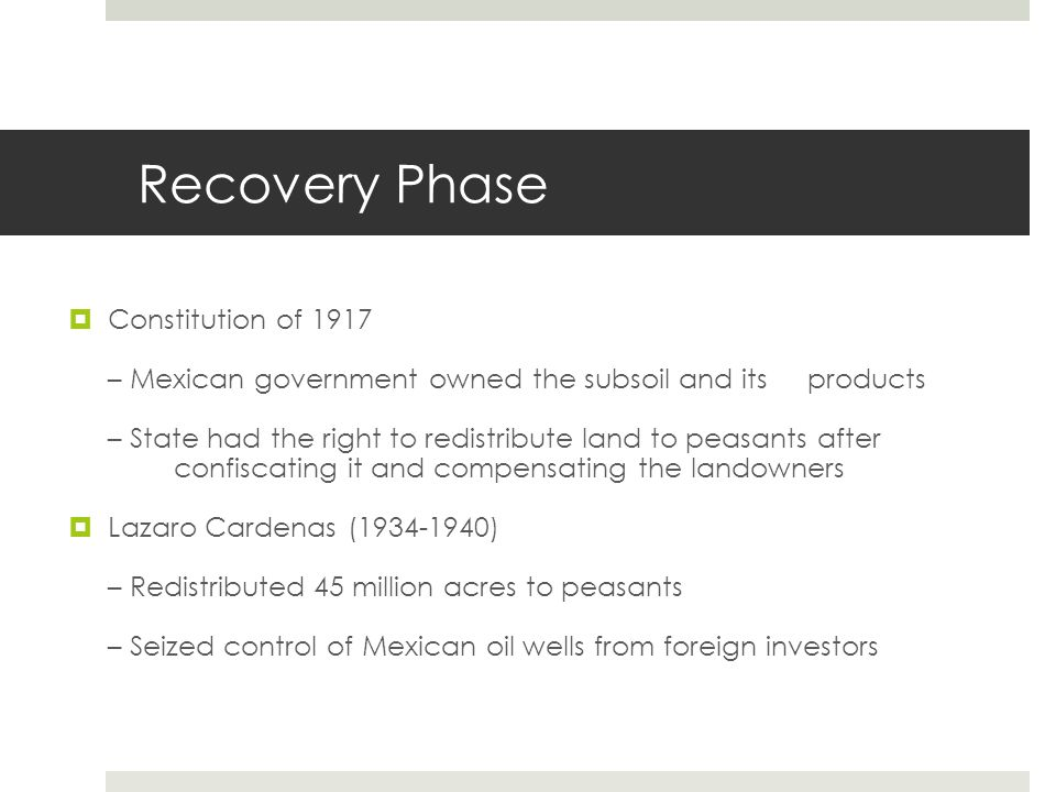 Recovery Phase Constitution of 1917