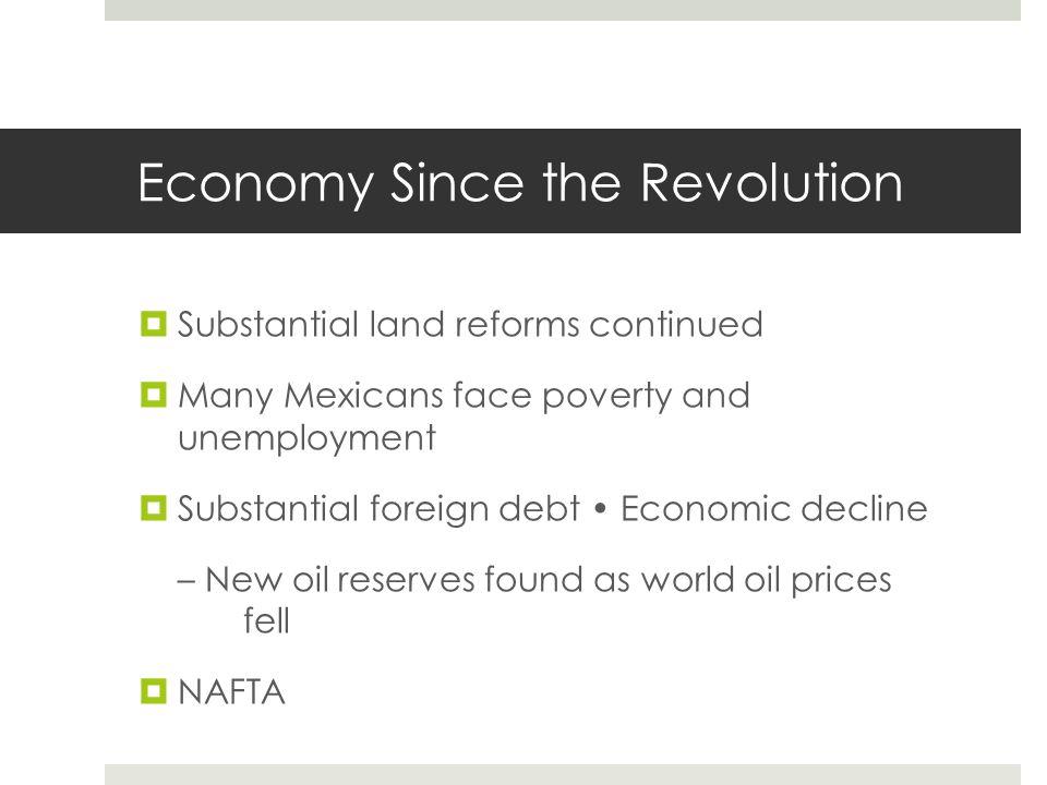 Economy Since the Revolution