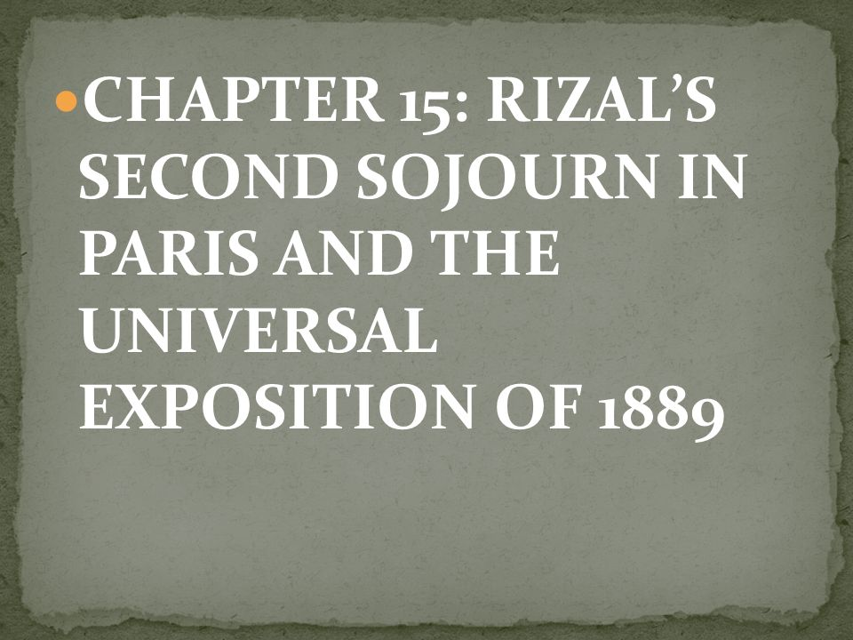 chapter 5 of rizal summary Chapter 22 – trial of rizal chapter 23 – martyrdom at bagumbayan guidelines for the activity: jose rizal -life,works and writings blog at wordpresscom.