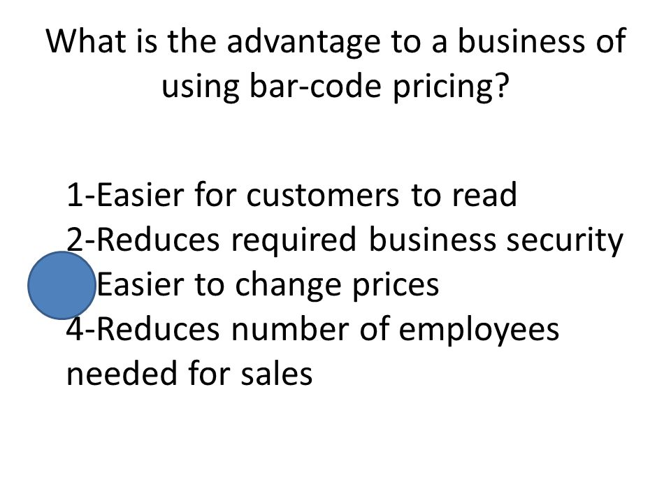 What is the advantage to a business of using bar-code pricing