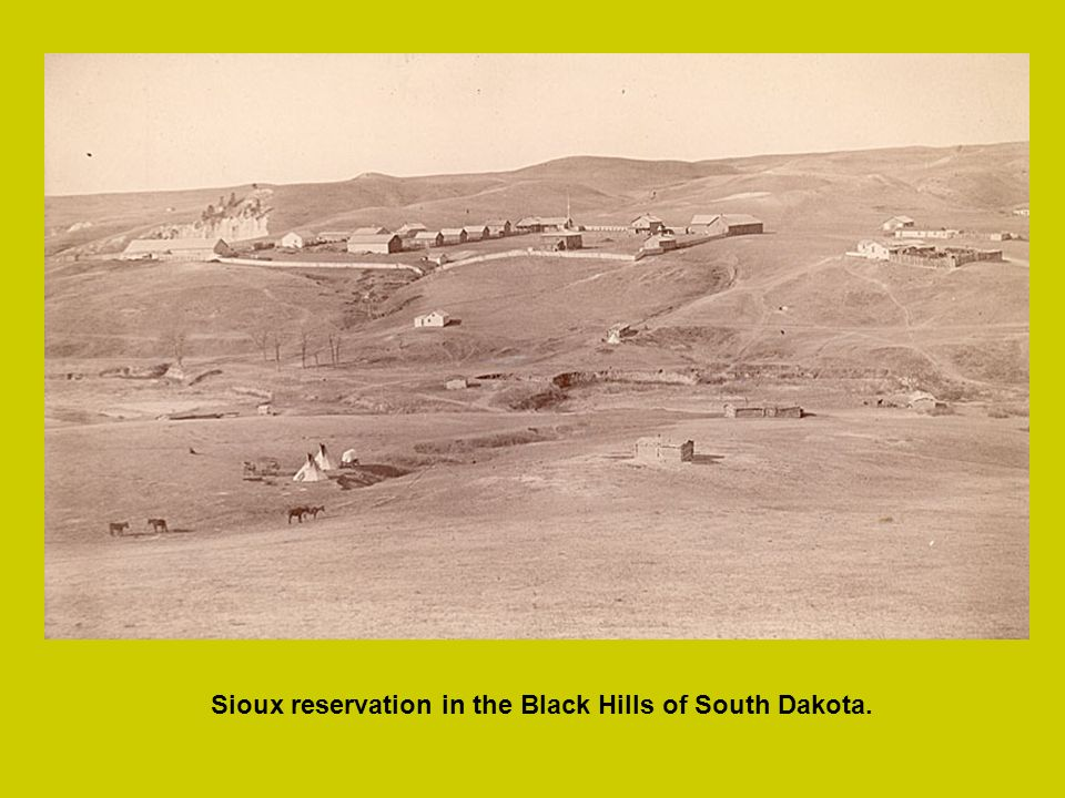 Sioux reservation in the Black Hills of South Dakota.