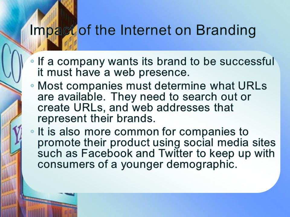 Impact of the Internet on Branding