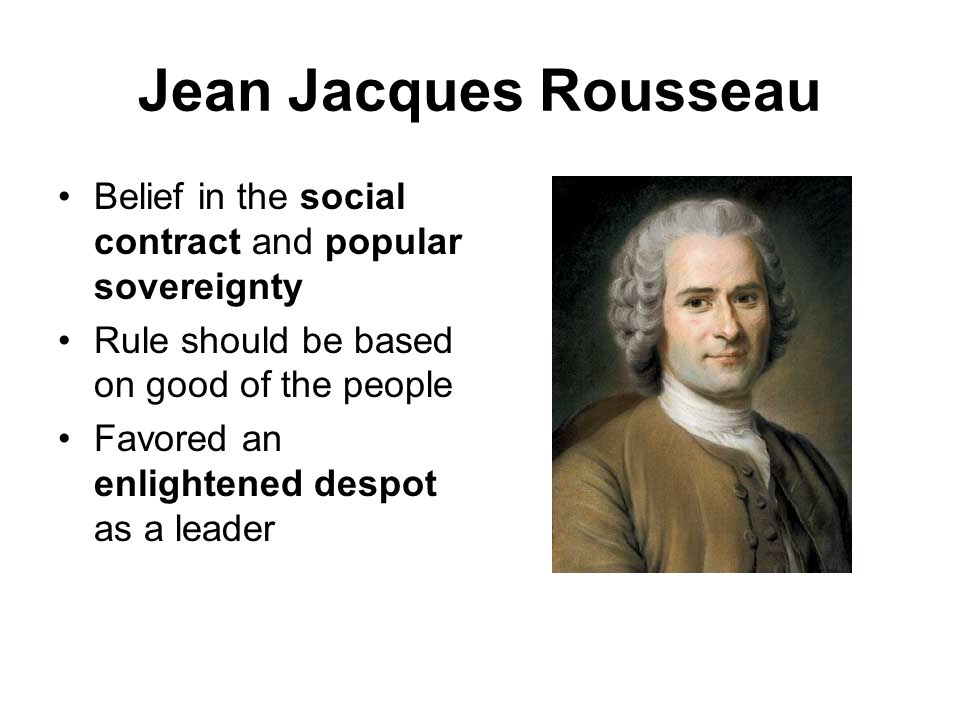 Key Concepts of the Philosophy of Jean- Jacques Rousseau