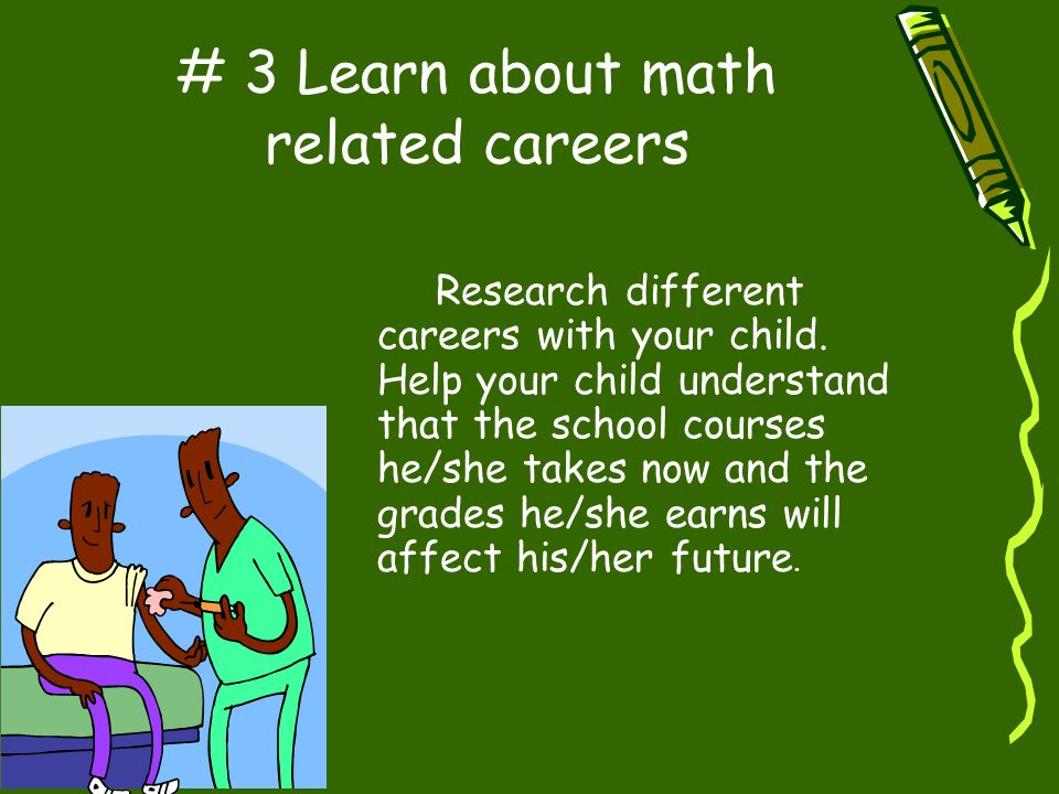 # 3 Learn about math related careers