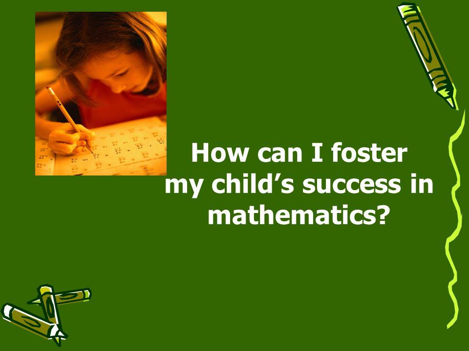 my child's success in mathematics