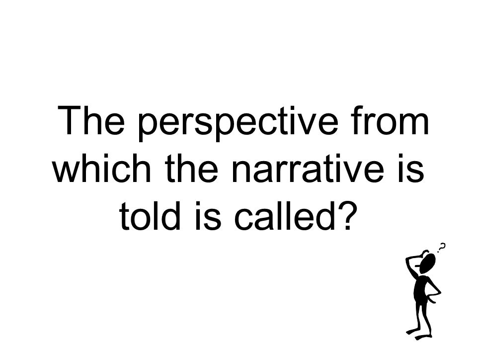 The perspective from which the narrative is told is called