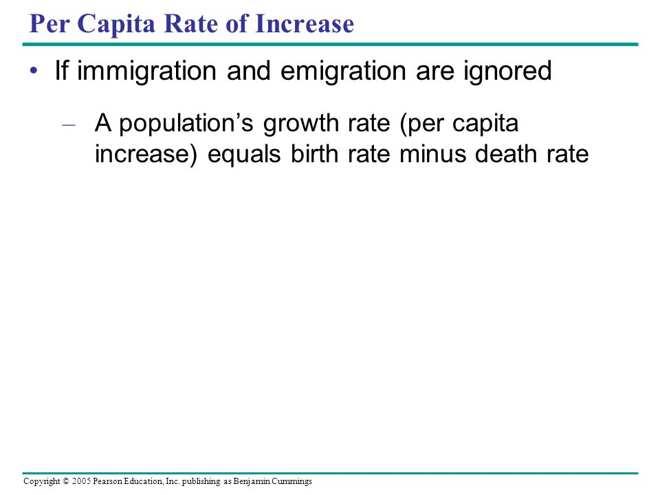 Per Capita Rate of Increase