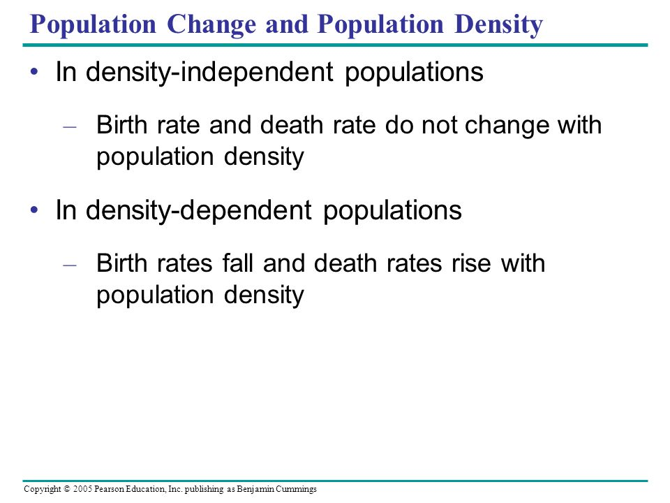 Population Change and Population Density