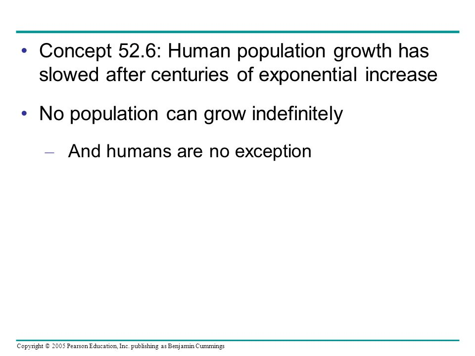 No population can grow indefinitely