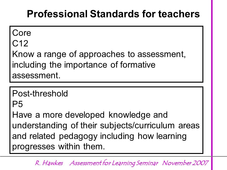 Professional Standards for teachers
