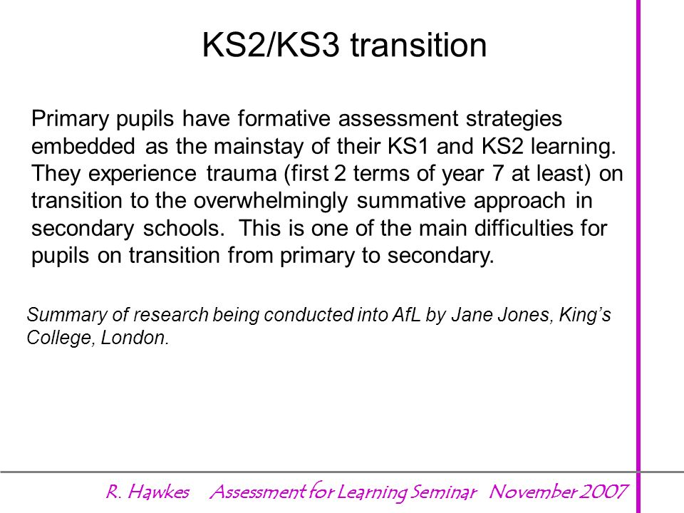 KS2/KS3 transition