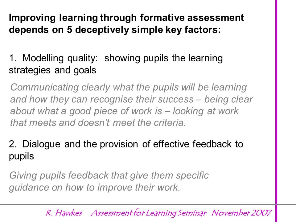 1. Modelling quality: showing pupils the learning strategies and goals
