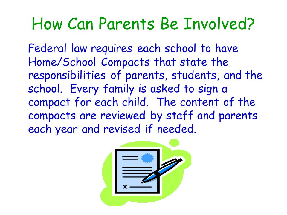 How Can Parents Be Involved