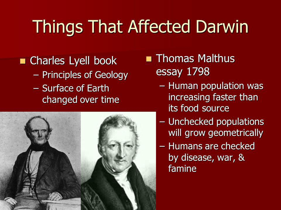 Things That Affected Darwin