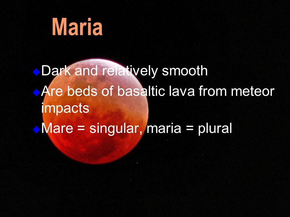 Maria Dark and relatively smooth