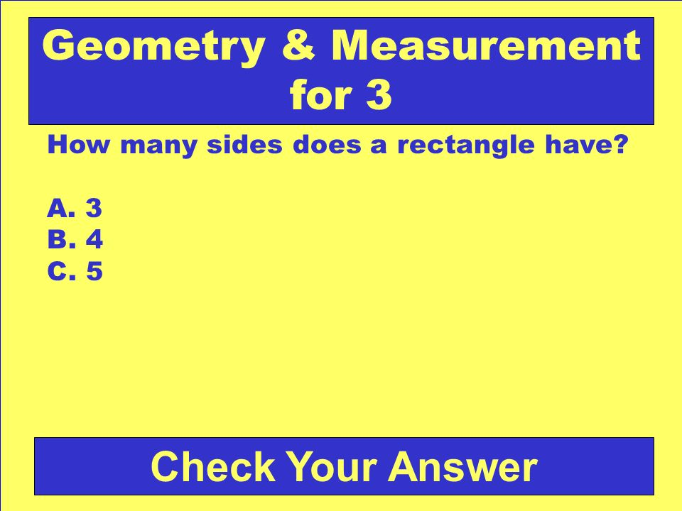 Geometry & Measurement for 3