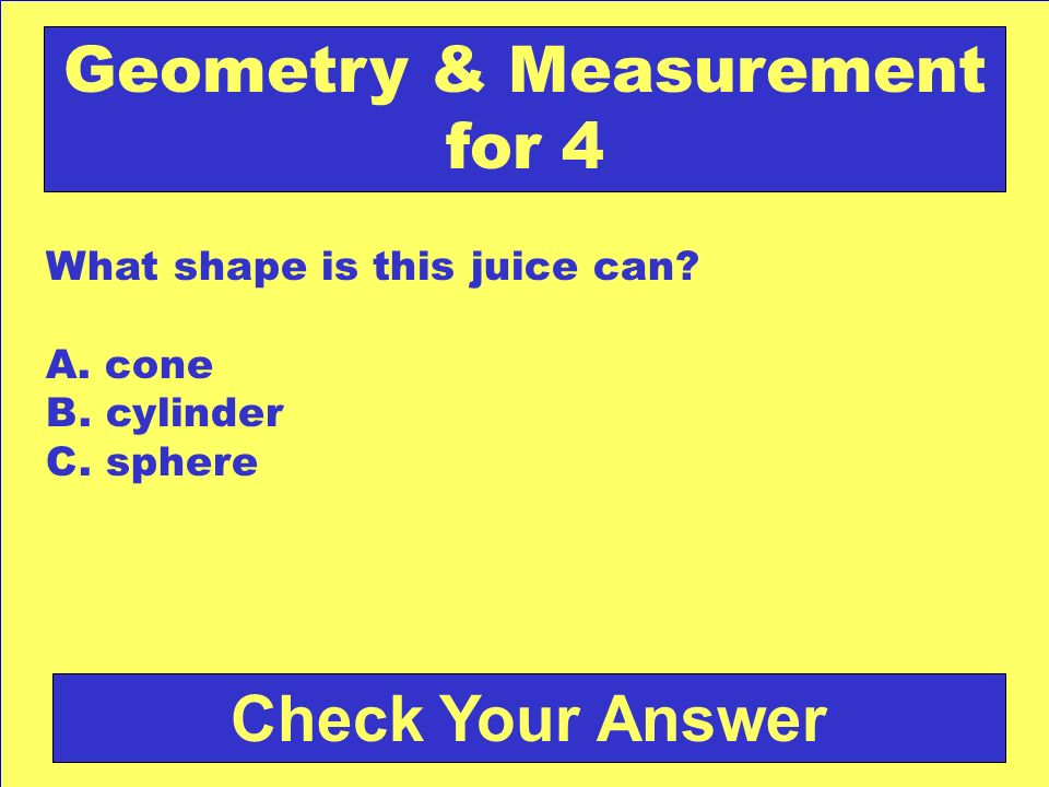 Geometry & Measurement for 4