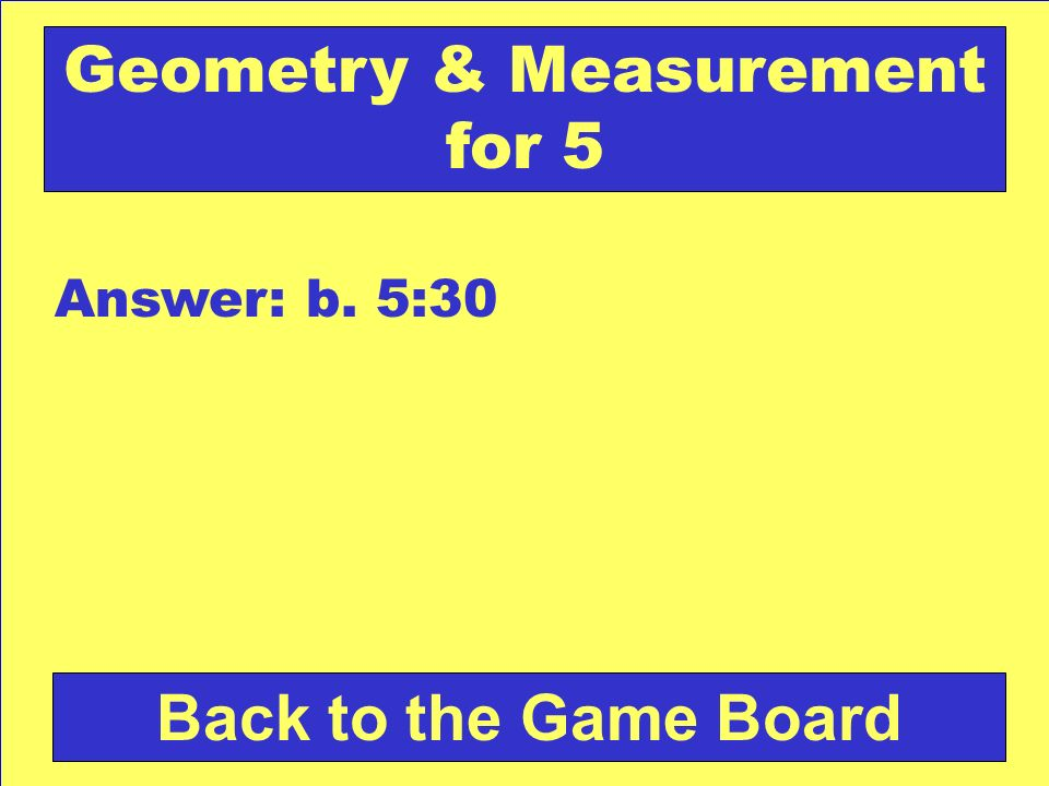 Geometry & Measurement for 5