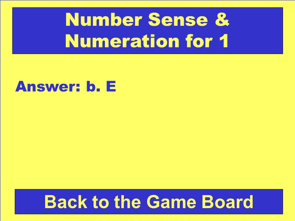 Number Sense & Numeration for 1