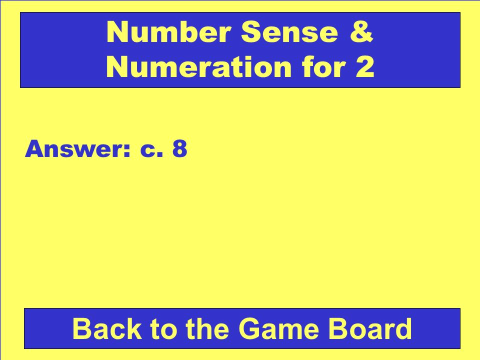 Number Sense & Numeration for 2
