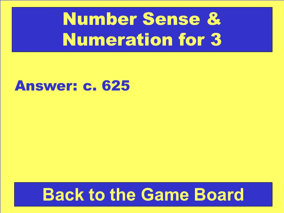 Number Sense & Numeration for 3