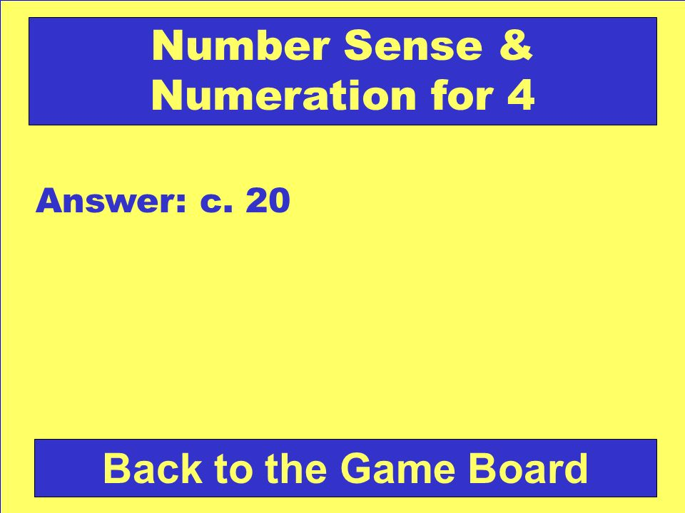 Number Sense & Numeration for 4