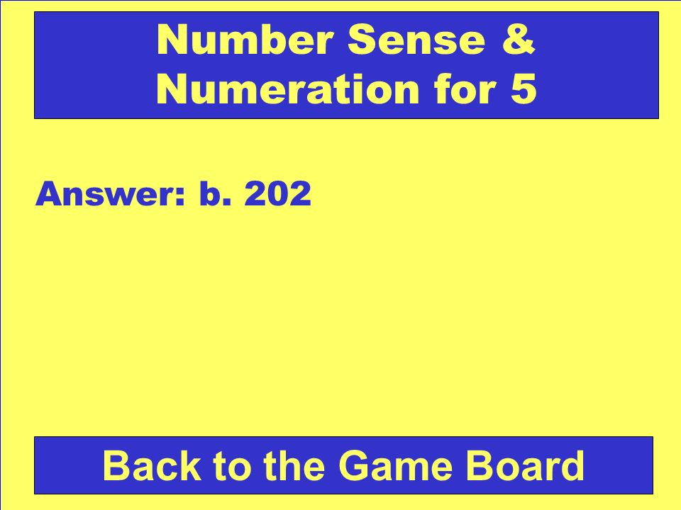 Number Sense & Numeration for 5