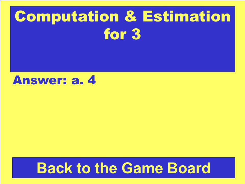 Computation & Estimation for 3