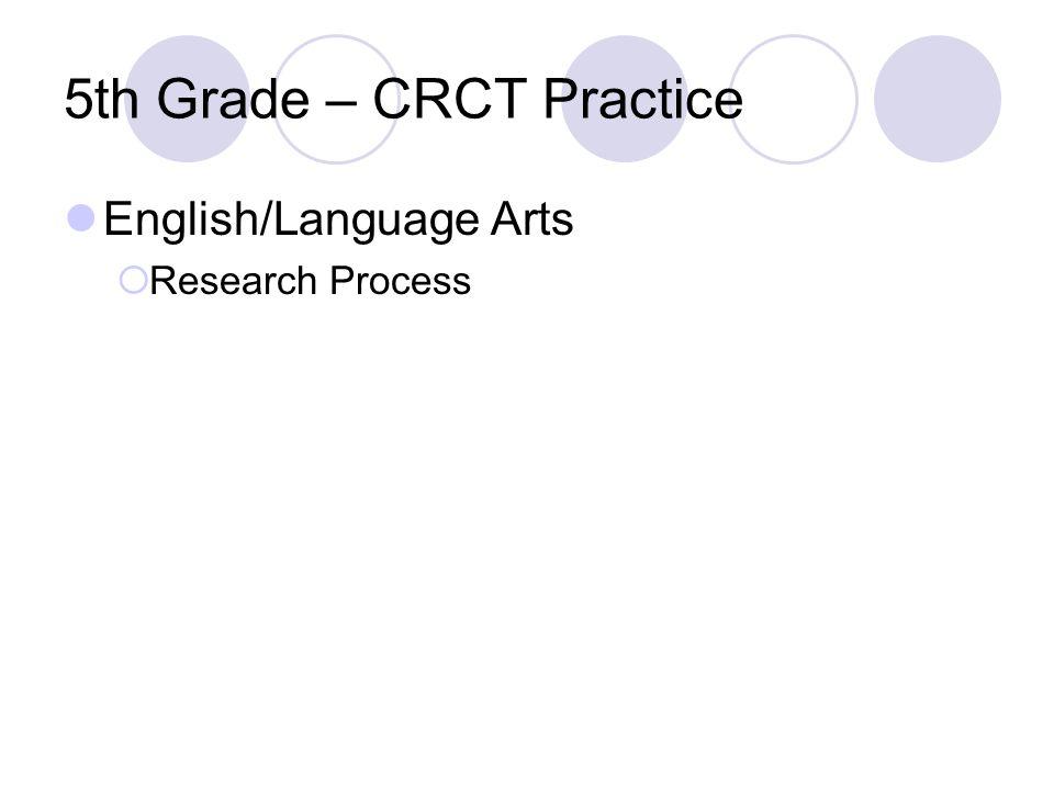 5th Grade – CRCT Practice