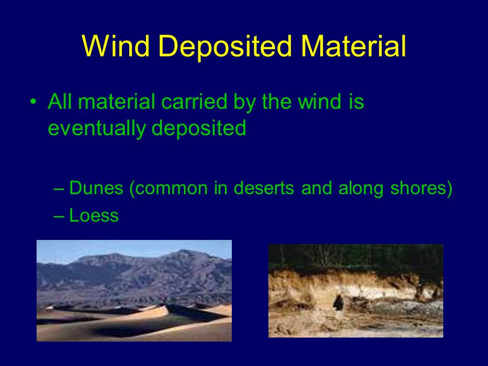 Wind Deposited Material