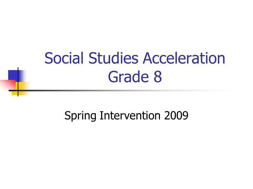 Social Studies Acceleration Grade 8