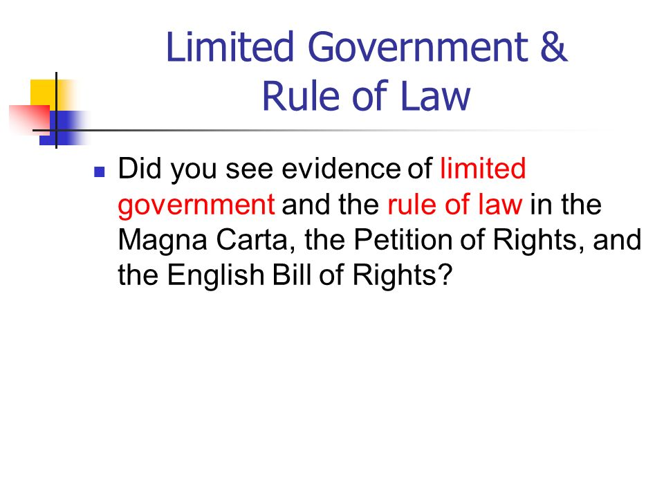 Limited Government & Rule of Law