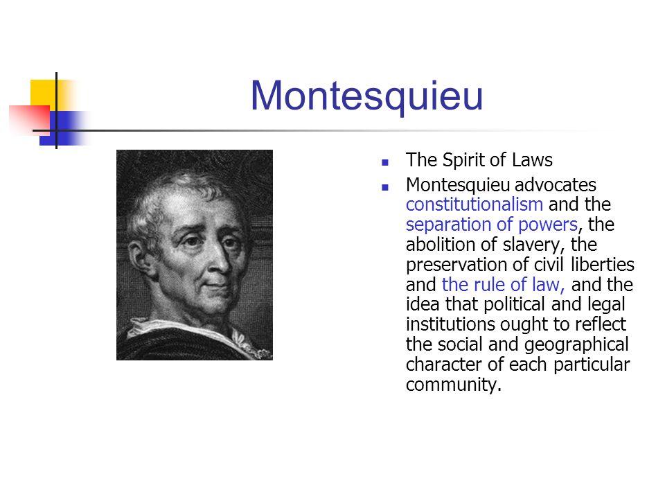 Montesquieu The Spirit of Laws