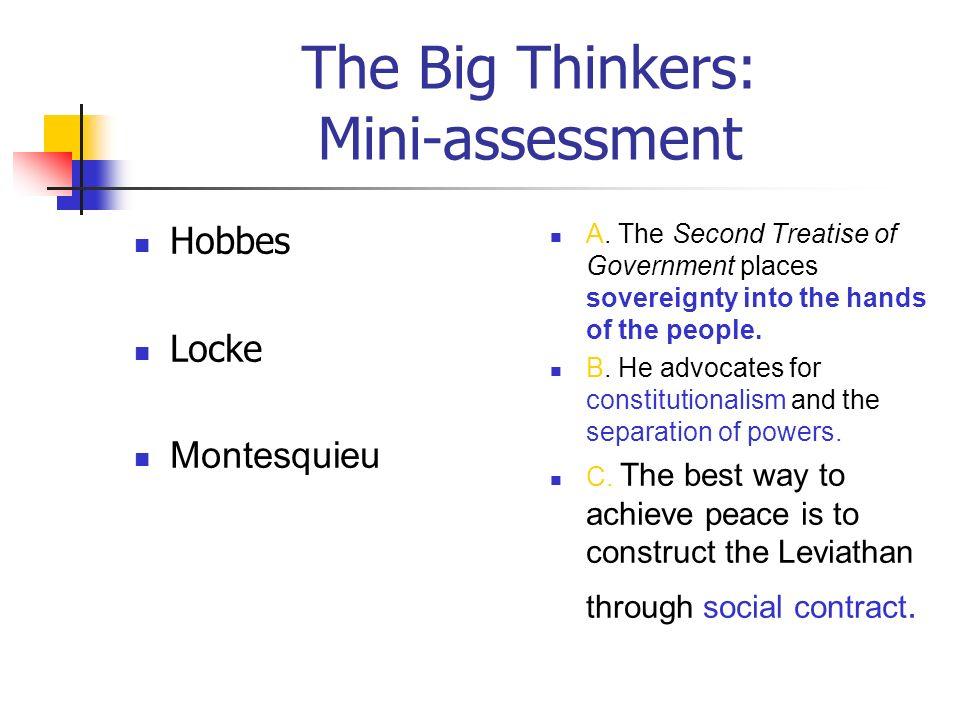 The Big Thinkers: Mini-assessment