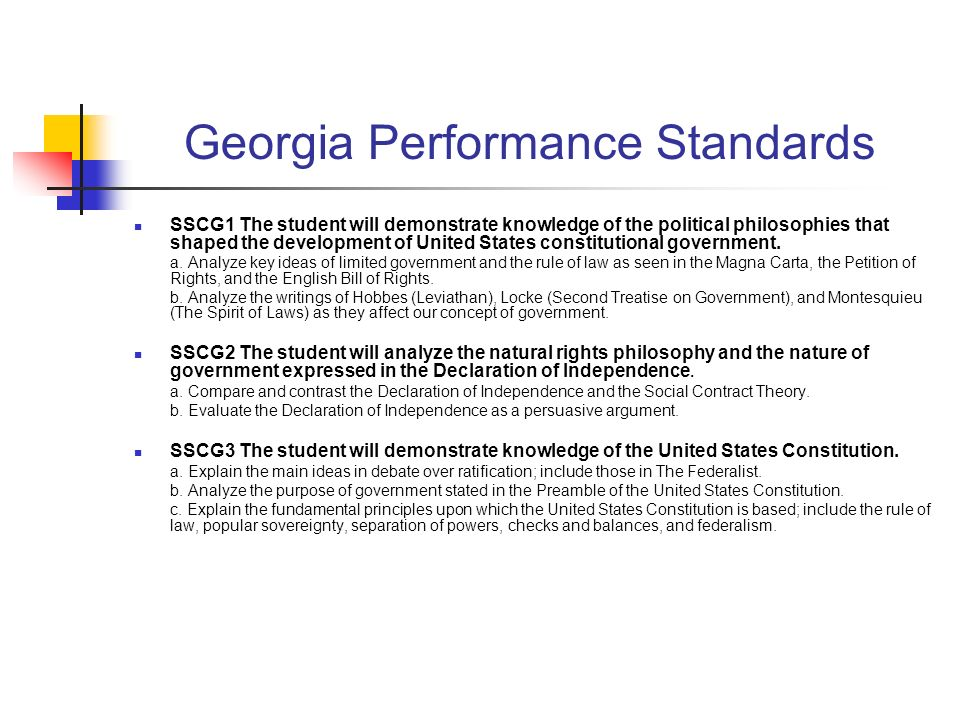Georgia Performance Standards