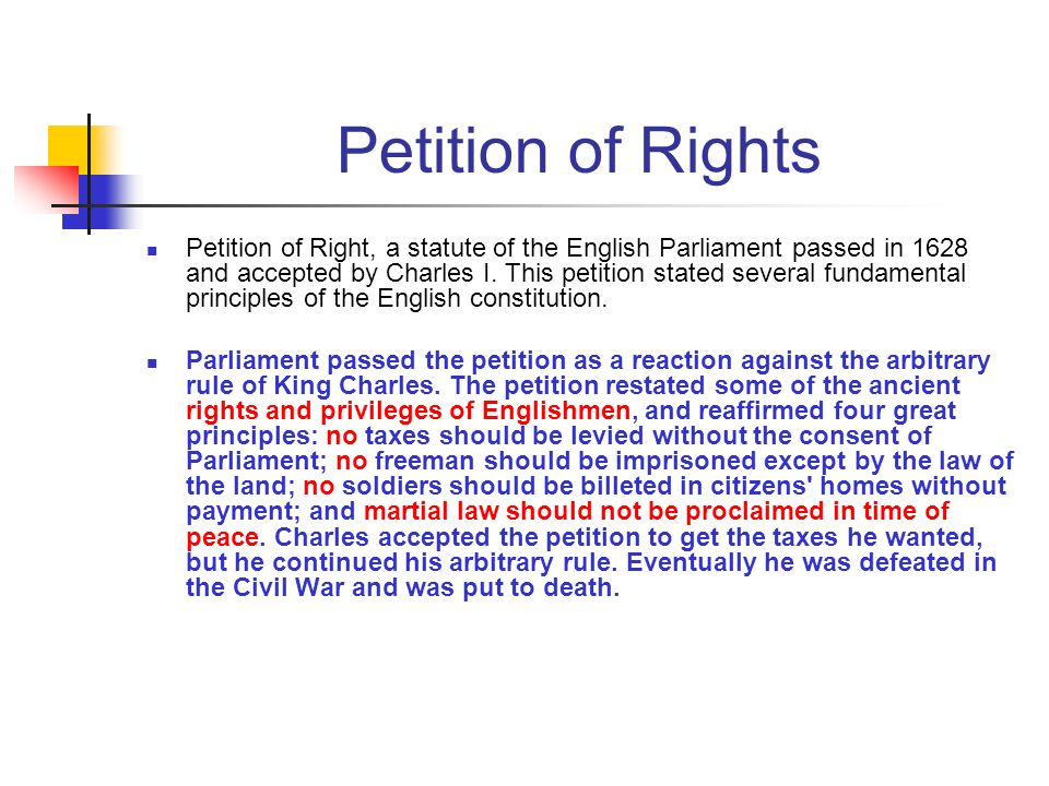 Petition of Rights