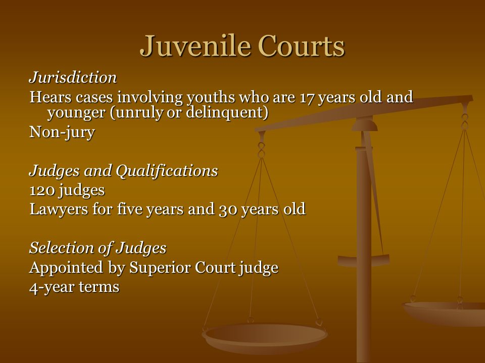 Juvenile Courts Jurisdiction