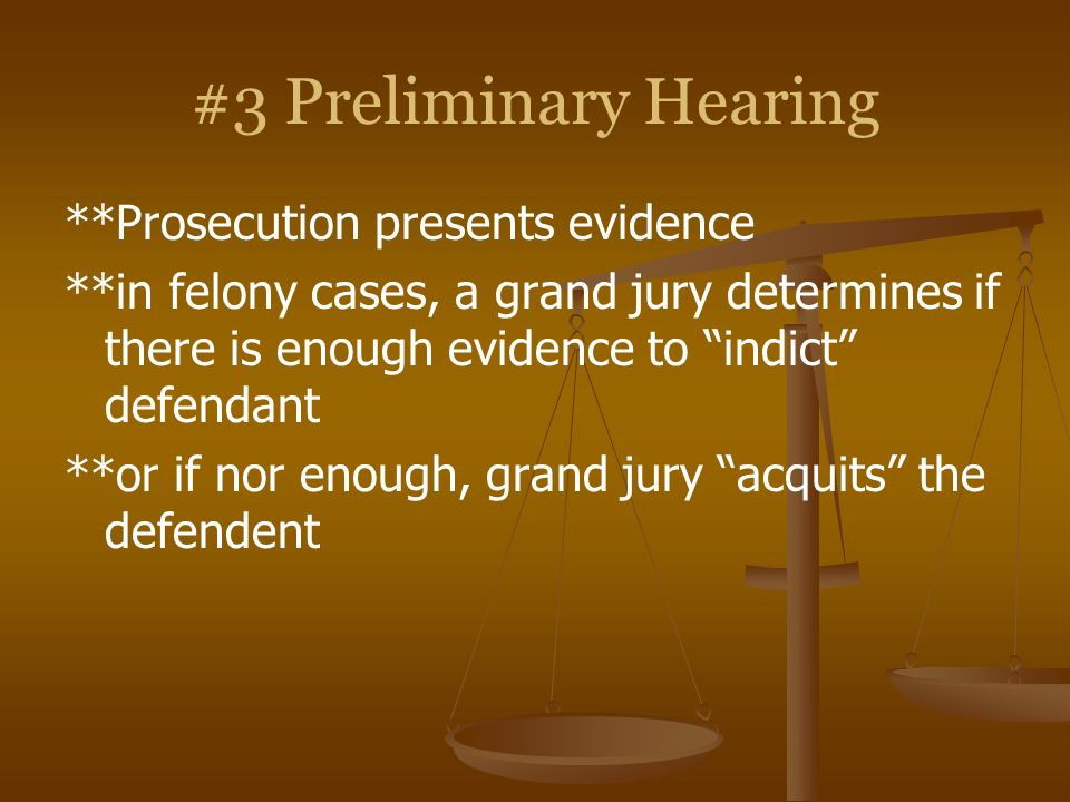 #3 Preliminary Hearing **Prosecution presents evidence