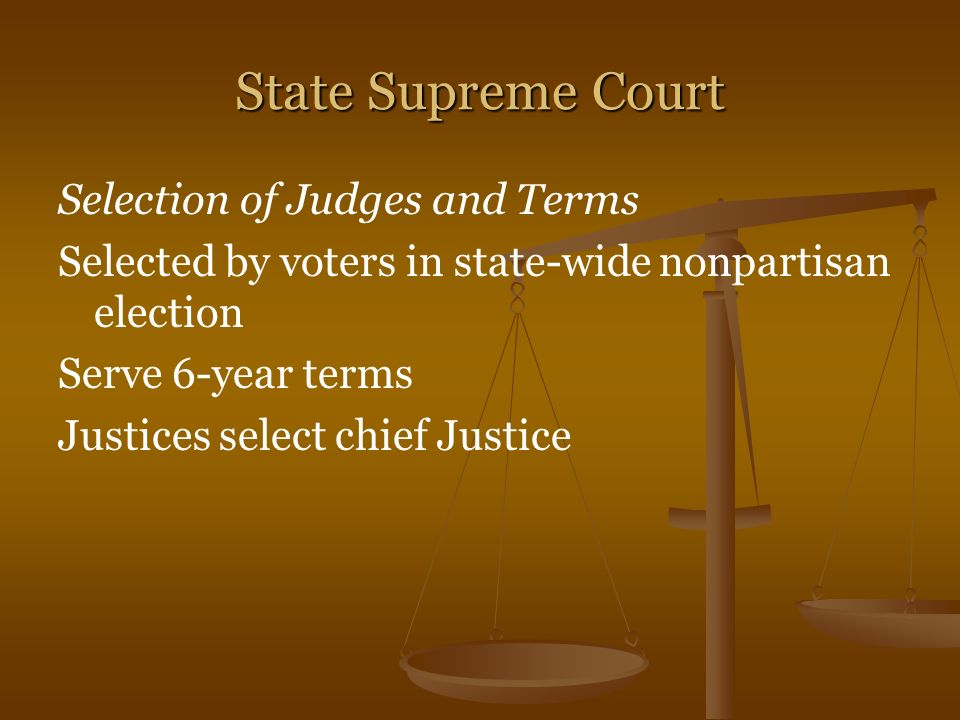 State Supreme Court Selection of Judges and Terms