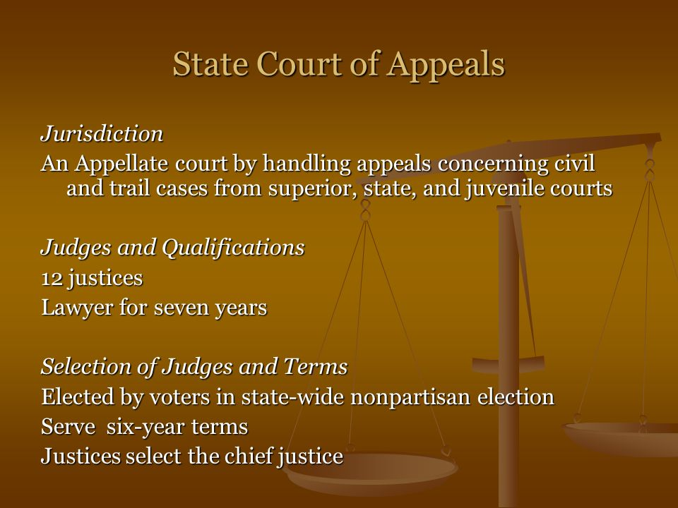 State Court of Appeals Jurisdiction