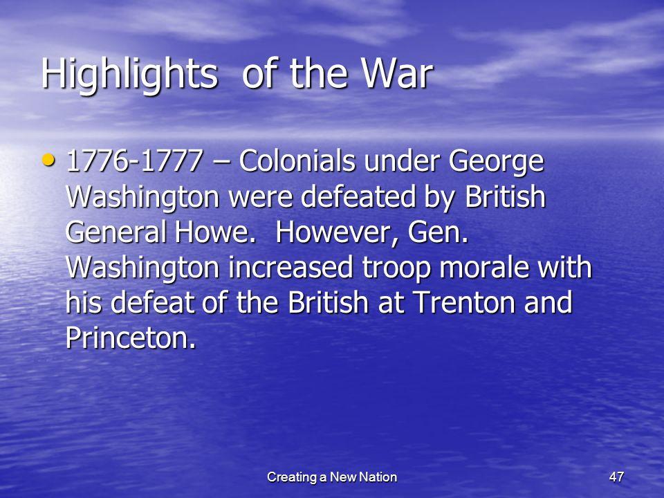 Highlights of the War