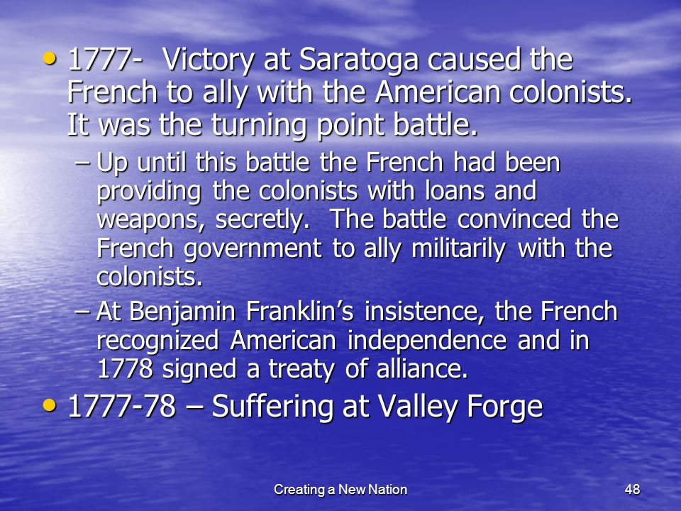 1777-78 – Suffering at Valley Forge