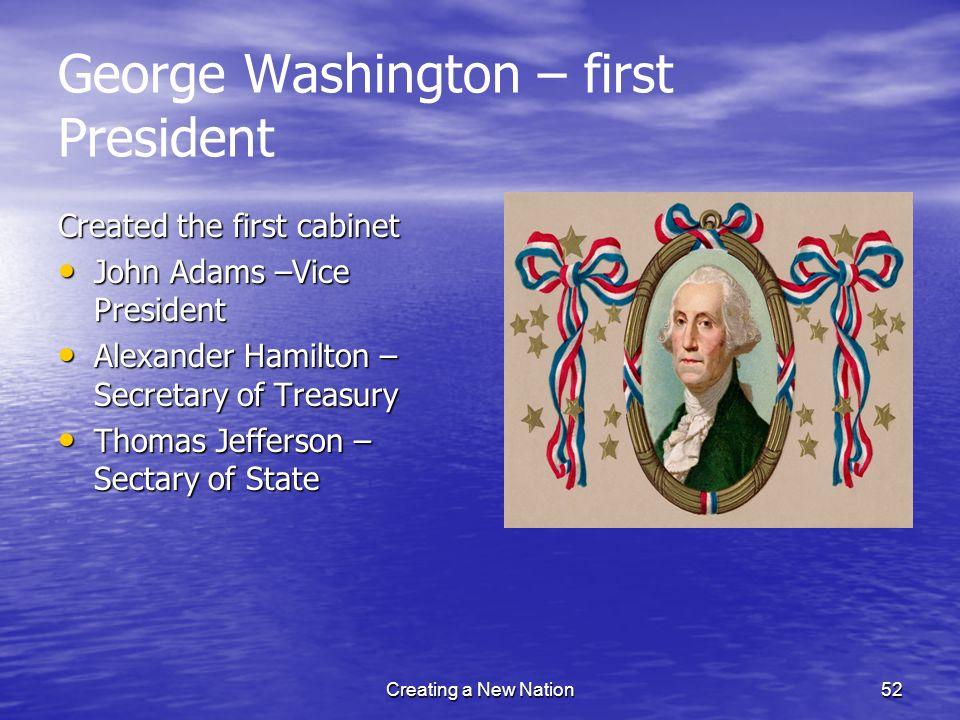 George Washington – first President