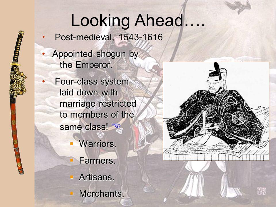 Looking Ahead…. Post-medieval, 1543-1616