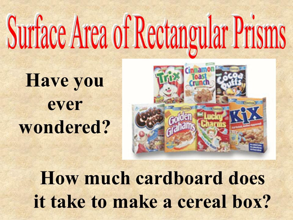 How much cardboard does it take to make a cereal box
