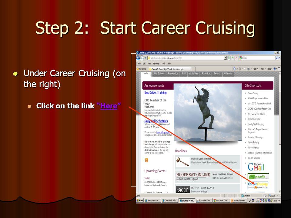 Step 2: Start Career Cruising