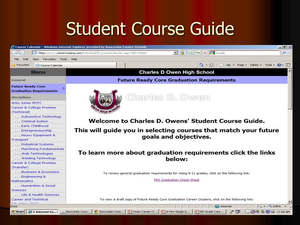 Student Course Guide