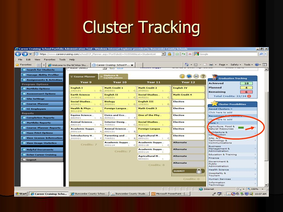 Cluster Tracking
