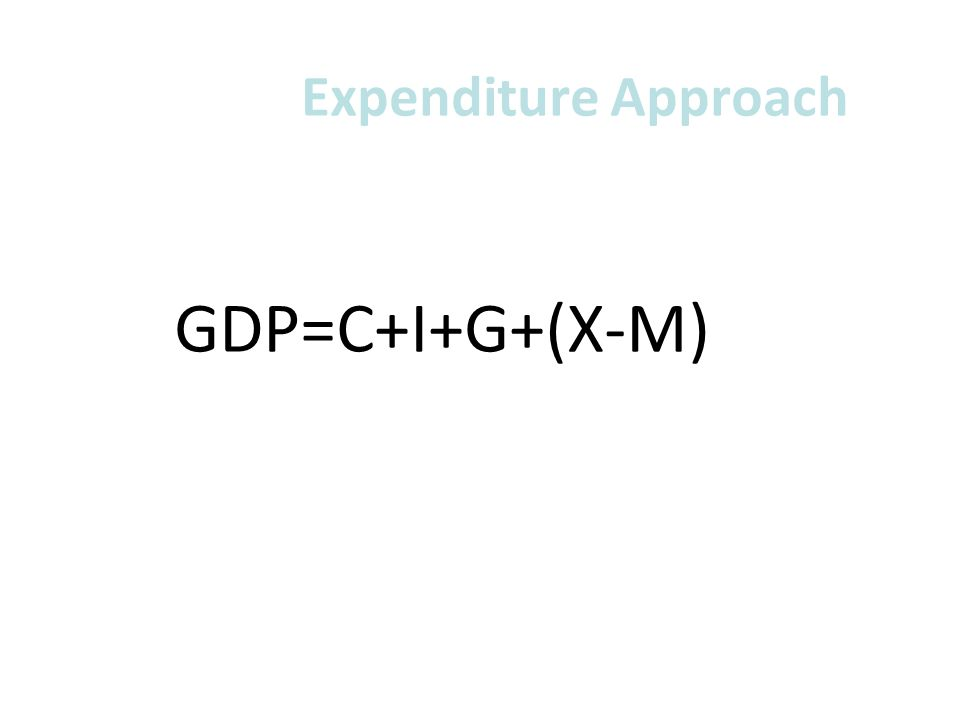 Expenditure Approach GDP=C+I+G+(X-M)