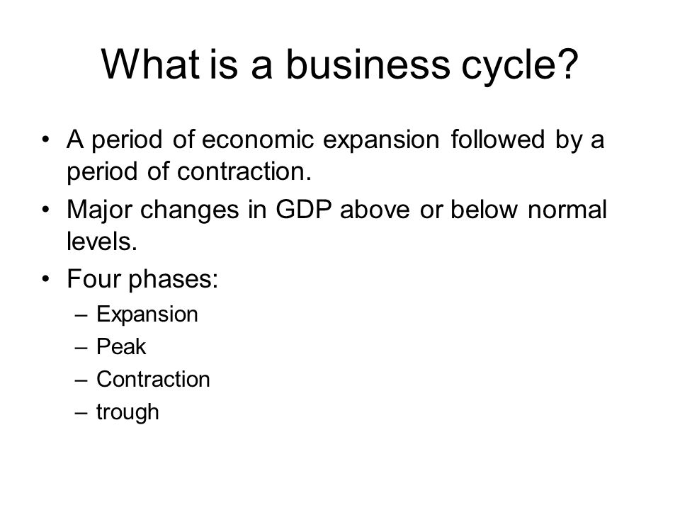 What is a business cycle